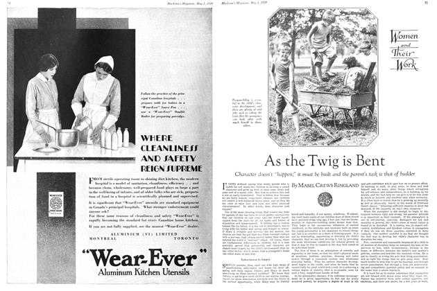 Article Preview: As the Twig is Bent, May 1929 | Maclean's