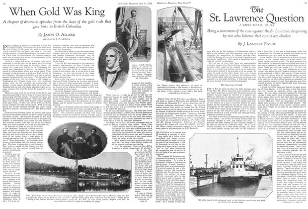 Article Preview: The St. Lawrence Question A REPLY TO MR. DRURY, May 1929 | Maclean's