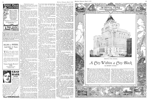 Article Preview: A City Within a City Block, May 1929 | Maclean's