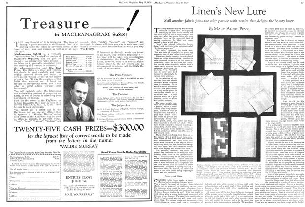 Article Preview: Linen's New Lure, May 1929 | Maclean's
