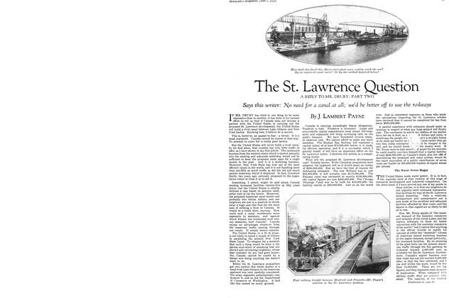 Article Preview: The St. Lawrence Question A REPLY TO MR. DRURY: PART TWO, June 1929 | Maclean's
