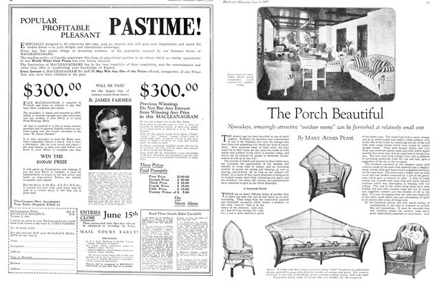 Article Preview: The Porch Beautiful, June 1929 | Maclean's