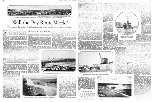 Article Preview: Will the Bay Route Work?, June 1929 | Maclean's