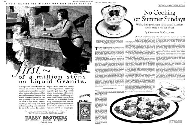 Article Preview: No Cooking on Summer Sundays, June 15TH 1929   Maclean's