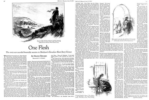 Article Preview: One Flesh, June 15TH 1929 | Maclean's