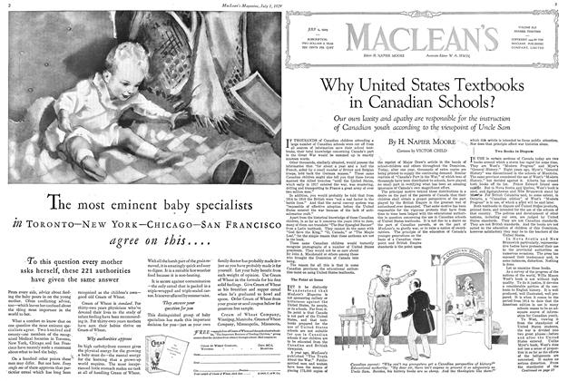 Article Preview: Why United States Textbooks in Canadian Schools?, July 1929 | Maclean's