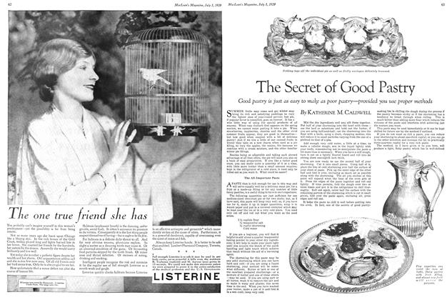 Article Preview: The Secret of Good Pastry, July 1929 | Maclean's