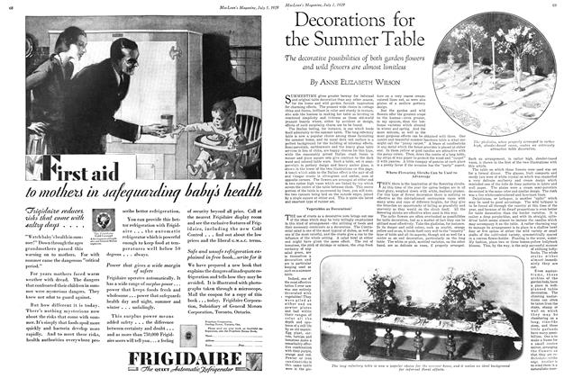 Article Preview: Decorations for the Summer Table, July 1929 | Maclean's