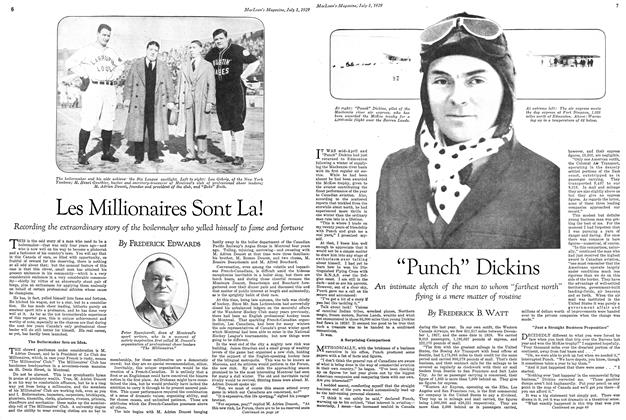 Article Preview: Les Millionaires Sont La!, July 1929 | Maclean's