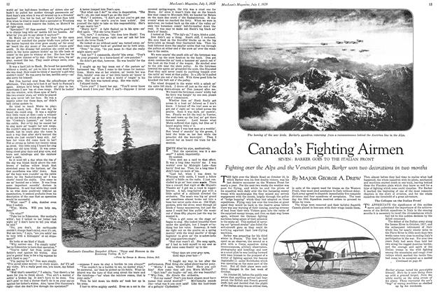 Article Preview: Canada's Fighting Airmen, July 1929 | Maclean's