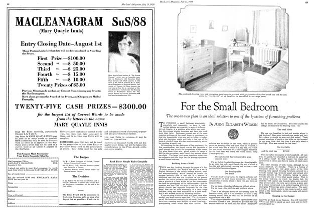Article Preview: For the Small Bedroom, July 1929 | Maclean's