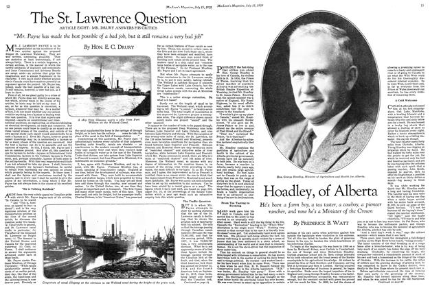 Article Preview: Hoadley, of Alberta, July 1929 | Maclean's