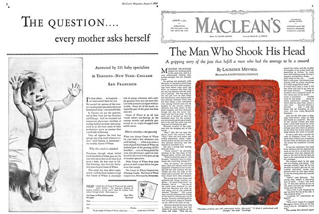 Article Preview: The Man Who Shook His Head, August 1929 | Maclean's