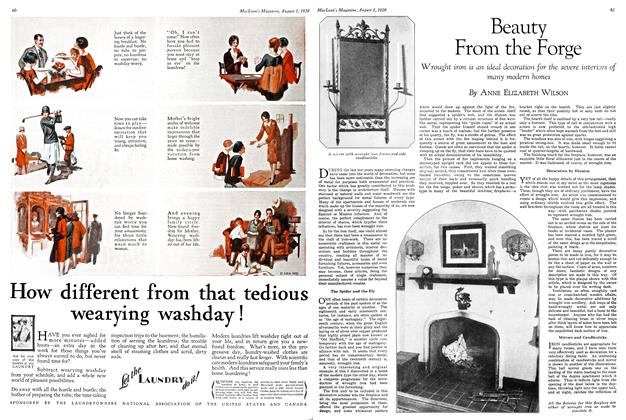Article Preview: Beauty From the Forge, August 1929 | Maclean's