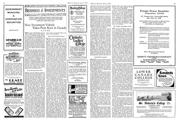 Article Preview: New Investment Vehicle Takes Firm Root in Canada, August 1929 | Maclean's