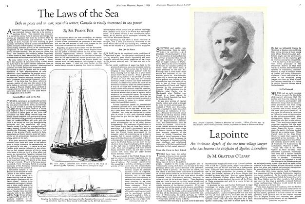 Article Preview: The Laws of the Sea, August 1929 | Maclean's