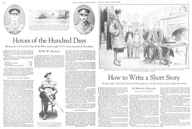 Article Preview: Heroes of the Hundred Days, August 1929 | Maclean's