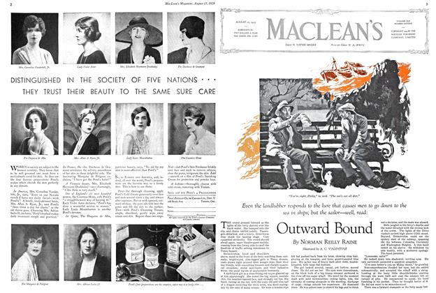 Article Preview: Outward Bound, August 1929 | Maclean's