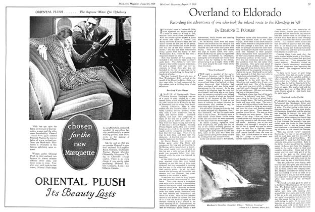 Article Preview: Overland to Eldorado, August 1929 | Maclean's