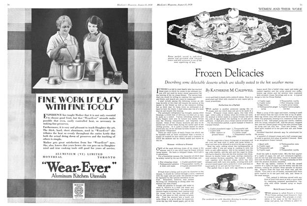 Article Preview: Frozen Delicacies, August 1929 | Maclean's