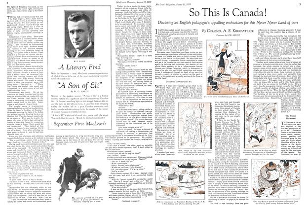 Article Preview: So This Is Canada!, August 1929   Maclean's