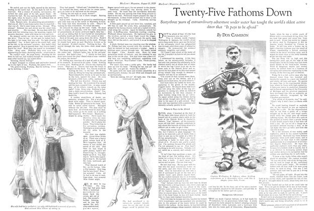 Article Preview: Twenty-Five Fathoms Down, August 1929 | Maclean's