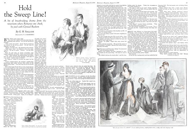 Article Preview: Hold the Sweep Line!, August 1929   Maclean's