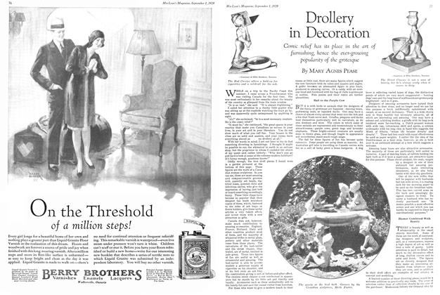 Article Preview: Drollery in Decoration, September 1929 | Maclean's