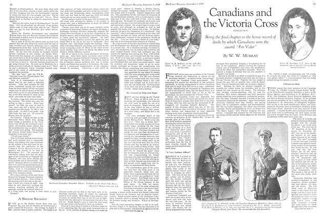 Article Preview: Canadians and the Victoria Cross, September 1929 | Maclean's
