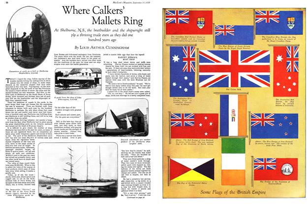 Article Preview: Where Calkers' Mallets Ring, September 1929 | Maclean's