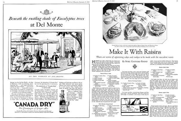 Article Preview: Make It With Raisins, September 1929 | Maclean's