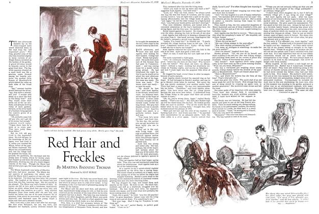 Article Preview: Red Hair and Freckles, September 1929 | Maclean's