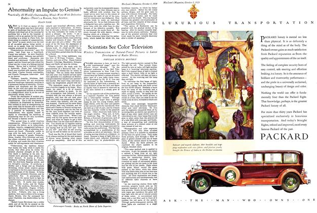 Article Preview: Scientists See Color Television, October 1929 | Maclean's