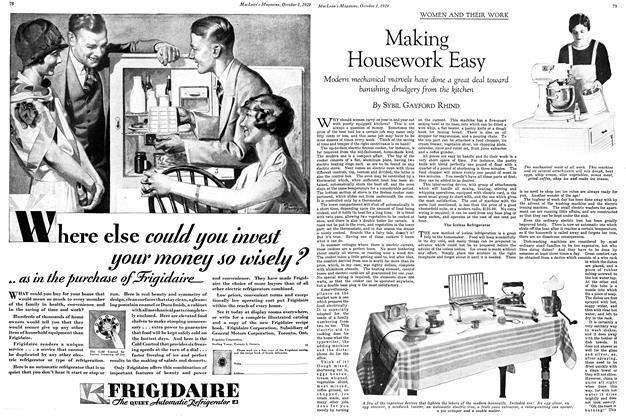 Article Preview: Making Housework Easy, October 1929 | Maclean's