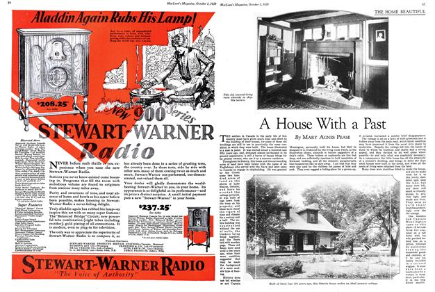 Article Preview: A House With a Past, October 1929   Maclean's