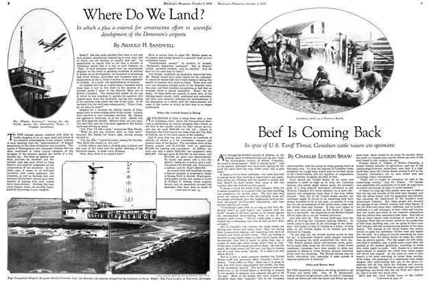 Article Preview: Beef Is Coming Back, October 1929 | Maclean's