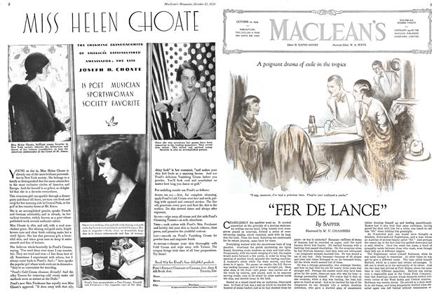"Article Preview: ""FER DE LANCE"", October 1929 