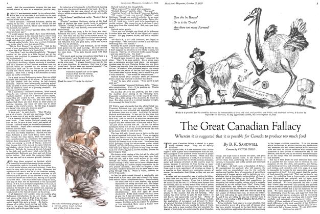 Article Preview: The Great Canadian Fallacy, October 1929 | Maclean's