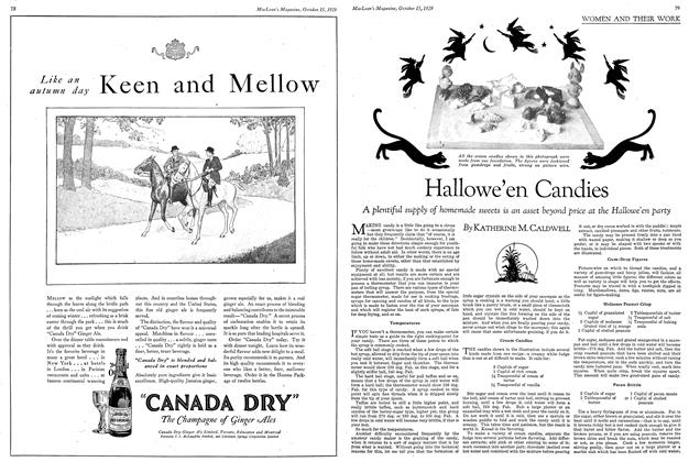 Article Preview: Hallowe'en Candies, October 1929 | Maclean's