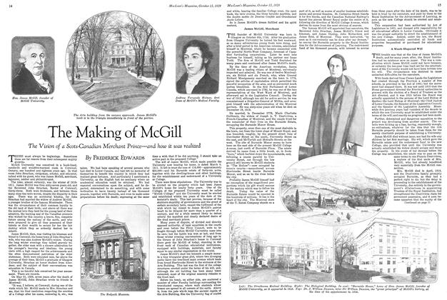 Article Preview: The Making of McGill, October 1929 | Maclean's