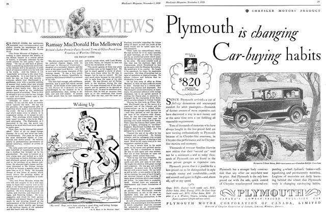 Article Preview: Ramsay MacDonald Has Mellowed, November 1929 | Maclean's