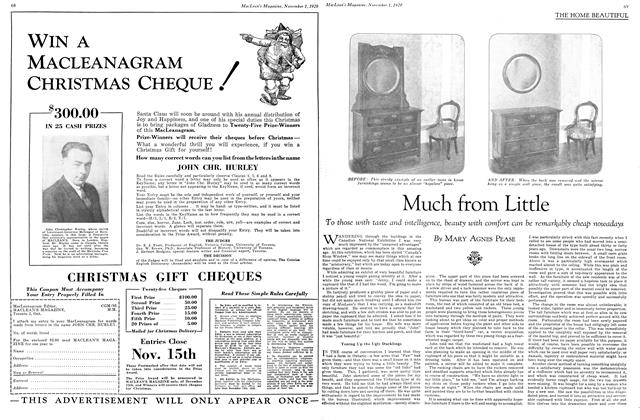 Article Preview: Much from Little, November 1929 | Maclean's
