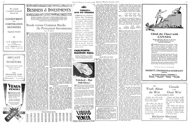 Article Preview: Bonds versus Common Stocks As Permanent Investments, November 1929 | Maclean's