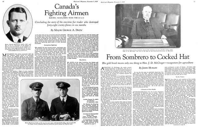 Article Preview: From Sombrero to Cocked Hat, November 1929 | Maclean's