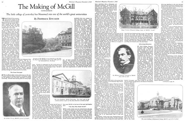 Article Preview: The Making of McGill, November 1929 | Maclean's