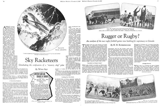 Article Preview: Sky Racketeers, November 1929 | Maclean's
