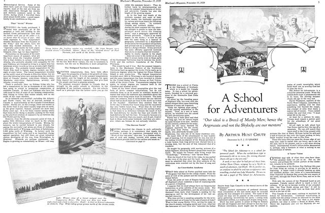 Article Preview: A School for Ad venturers, November 1929 | Maclean's