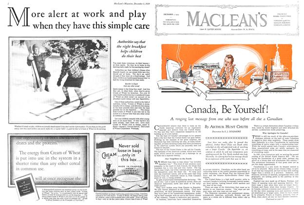 Article Preview: Canada, Be Yourself!, December 1929 | Maclean's