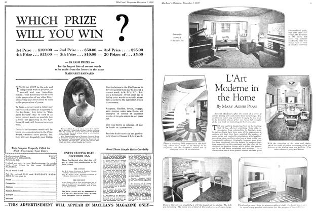 Article Preview: L'Art Moderne in the Home, December 1929 | Maclean's