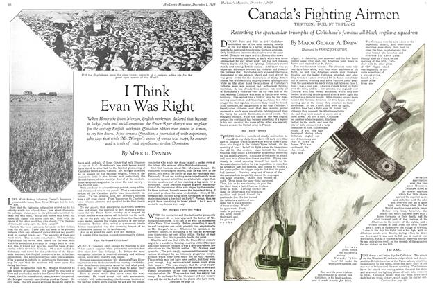Article Preview: Canada's Fighting Airmen, December 1929 | Maclean's